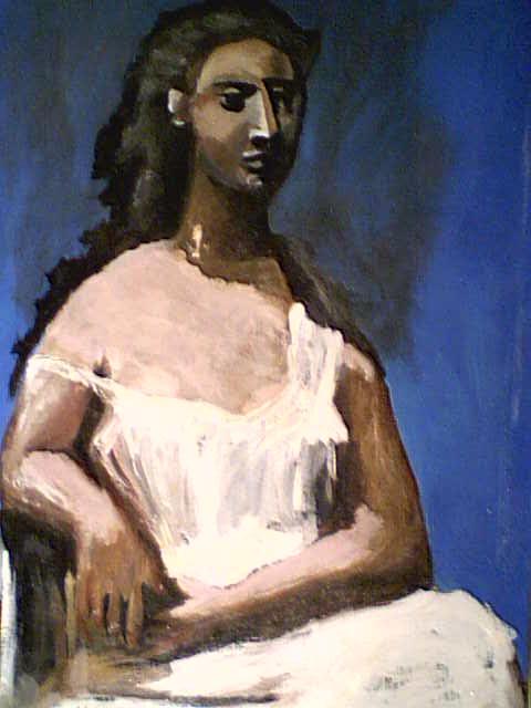 Femme assise (copie de Pablo Picasso)